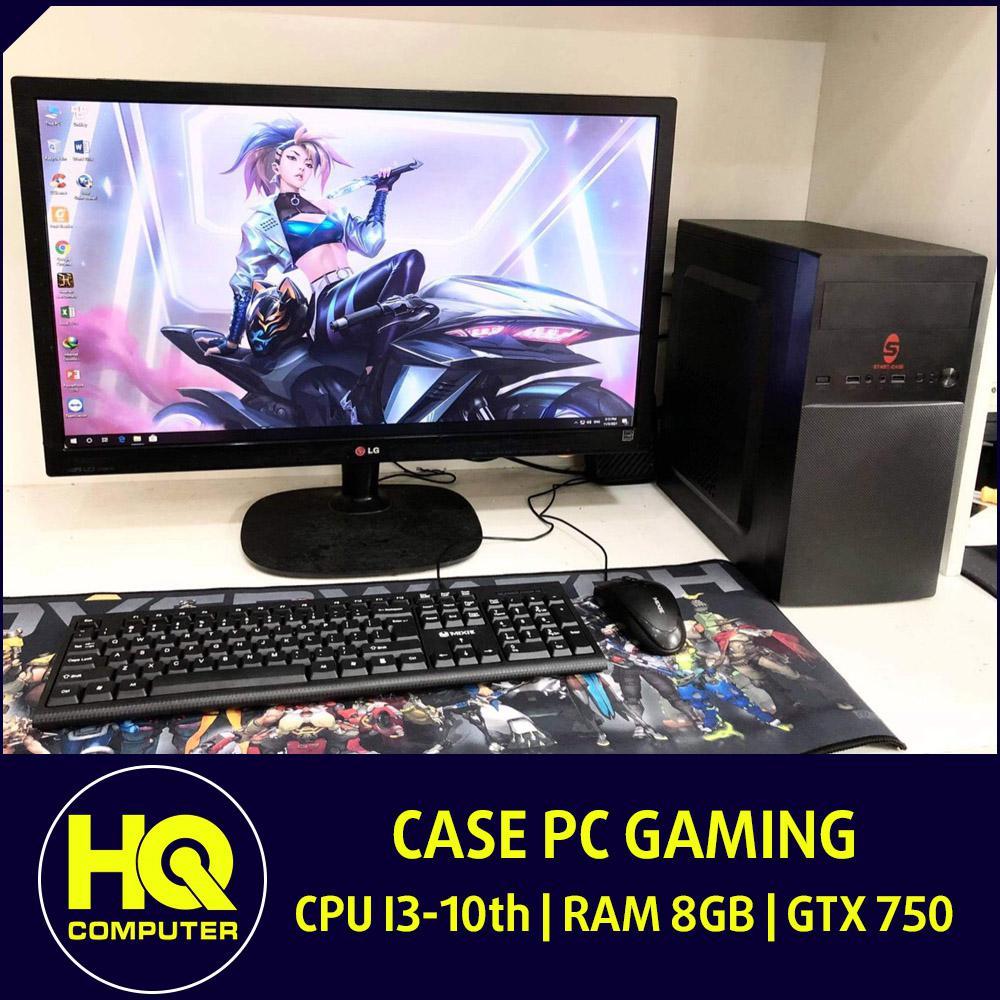 Case Core i3-10th Ram 8GB Card GTX 750