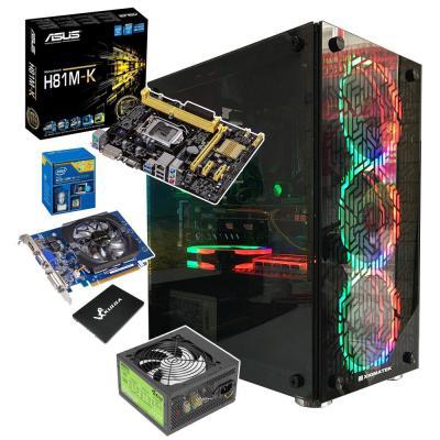 Case Máy Tính Chơi LOL Vỏ Kính, Fan LED RGB G3220|GT 730
