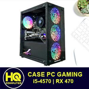 Case Máy Tính i5 RX 470 Gaming Vỏ Led Đẹp, Chơi PUBG